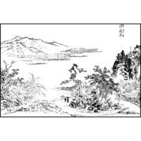 三遠のうち深遠 - 絵本鶯宿梅(元文5年・1739年)