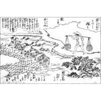 福人の田植 - 絵本通宝志(享保14年・1729年)