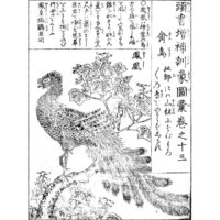 鳳凰 - 頭書増補訓蒙図彙(寛政元年・1789年)