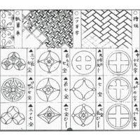 七宝輪違(七宝繋ぎ) - 草模様新紋張大全(明治18年・1885年)