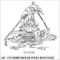 宝の熨斗船 - 日本文様図鑑 新装普及版 岡登貞治 編(東京堂出版)