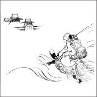 浦島太郎 - 倭人物画譜(文化元年・1804年)