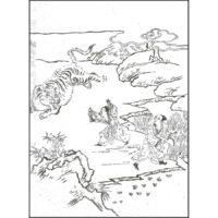 楊香「搤虎救父」 - ひめかがみ 巻三(宝永6年・1709年)
