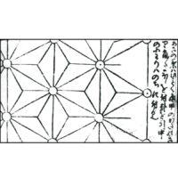 麻の葉・卍錦地文 - 紋帳(江戸後期)