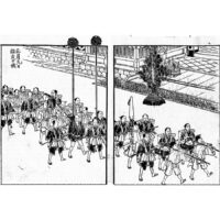 大名行列 - 温古年中行事(明治16年・1883年)