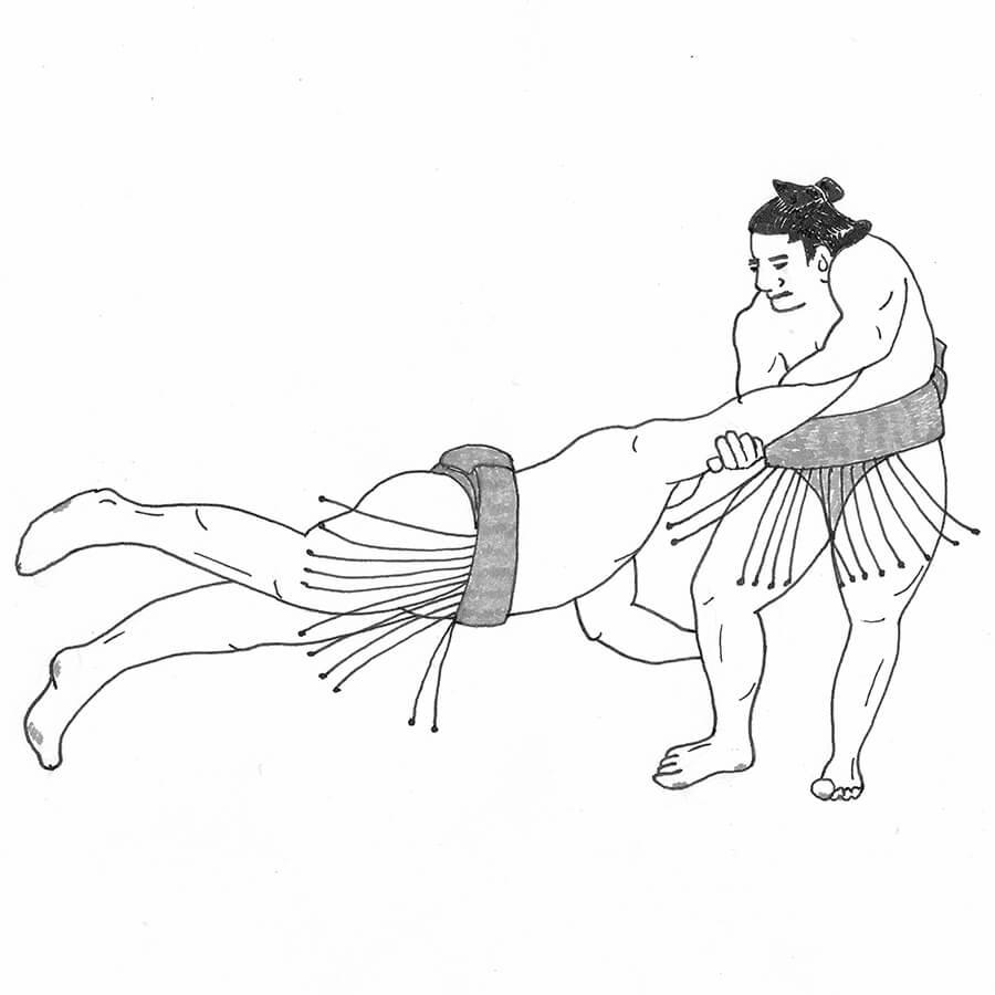 恵比寿の網打ち - 相撲の網打ち