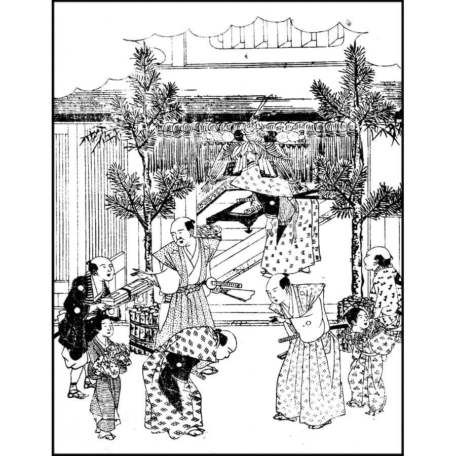 門松 - 年中行事大成(文化3年・1806年)