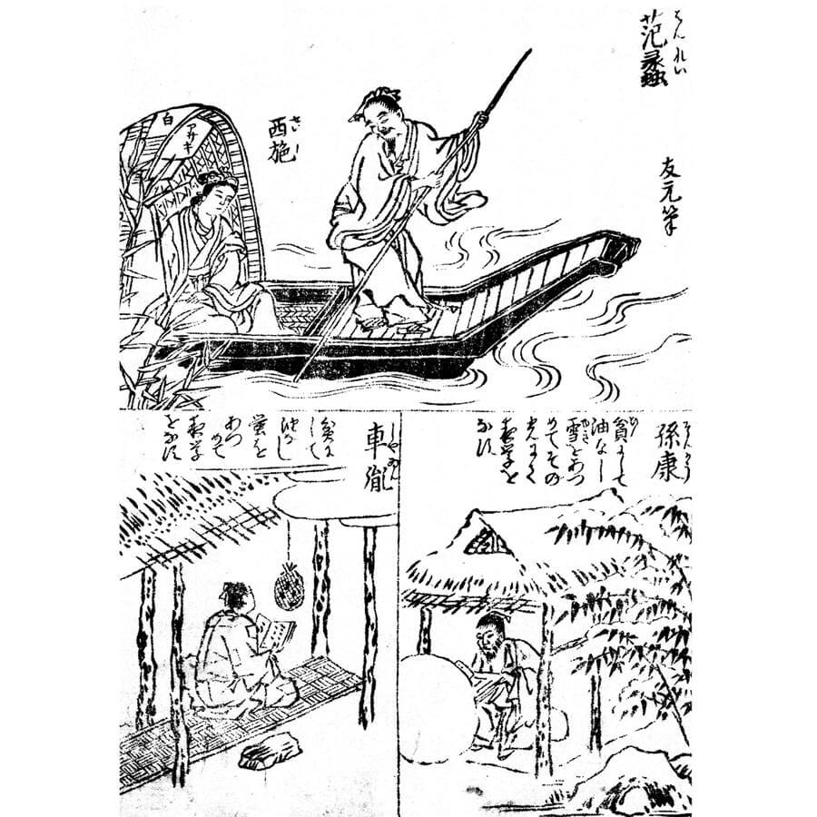 蛍雪の功 - 画筌(享保6年・1721年)