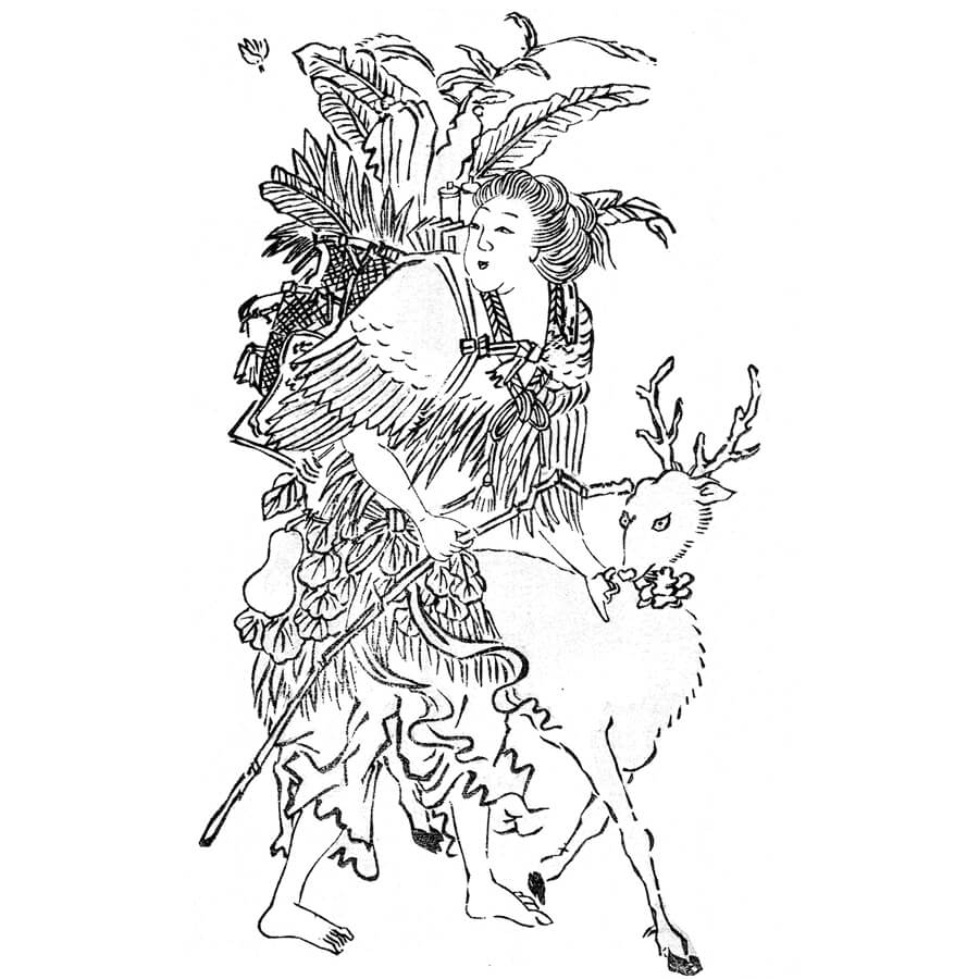 麻姑 - 文晁画譜(文久2年・1862年)