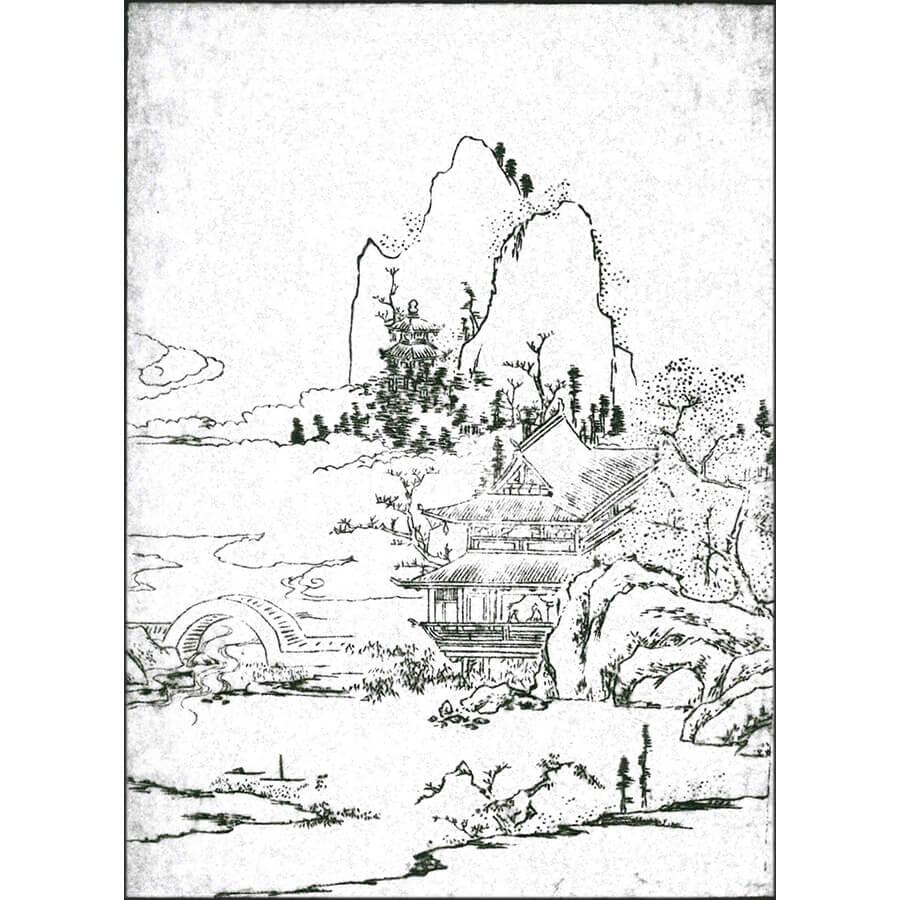 西湖 - 本朝画林(宝暦2年・1752年)