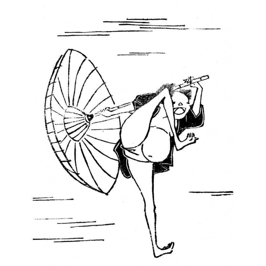 鳥羽絵 - 鳥羽絵扇能的(享保5年・1720年)